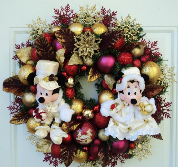 Christmas disney wreath with mickey and by sparkleforyourcastle 159