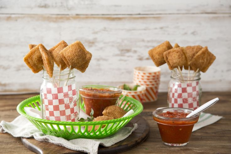 Give Farm Rich Toasted Ravioli Pops with Quick Marinara Dipping Sauce ...