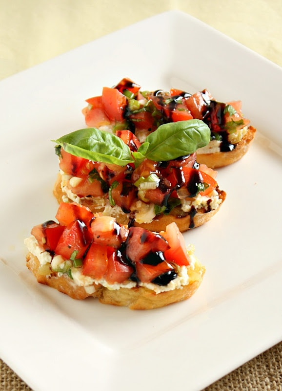 bruschetta with tomato roasted garlic and boursin vanilla clouds and ...