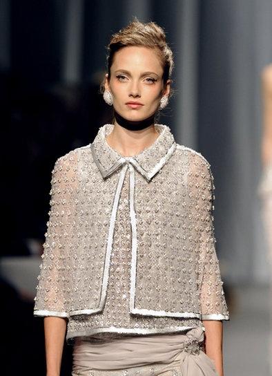 Chanel greige mink suit chanel pinterest for Haute couture jacket
