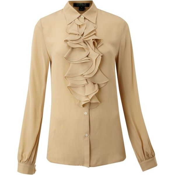 ralph lauren chiffon ruffle blouse women 39 s lace blouses. Black Bedroom Furniture Sets. Home Design Ideas