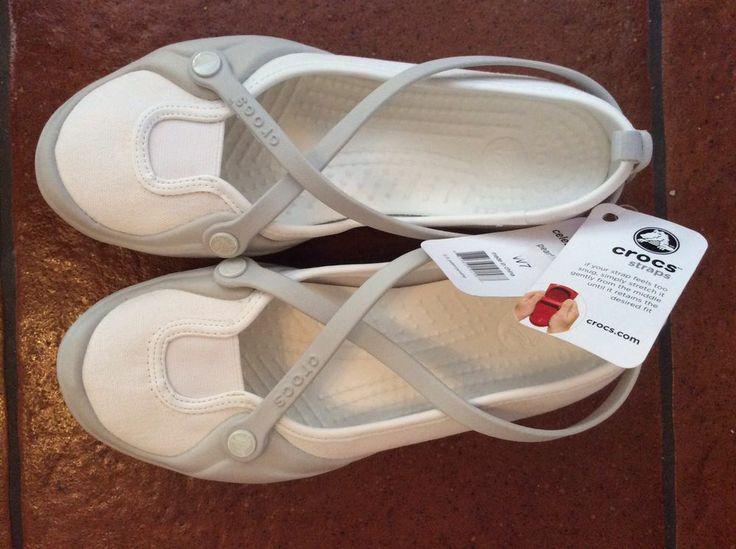 crocs celeste shoes 7 womens pearl white flats sandals