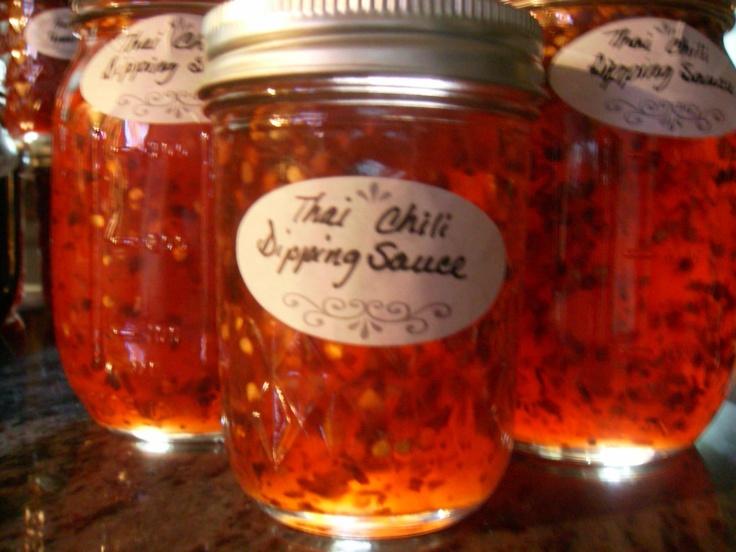 Thai Chili Dip Sauce:1/2 c. minced garlic, 6 c. sugar, 6 c. apple ...