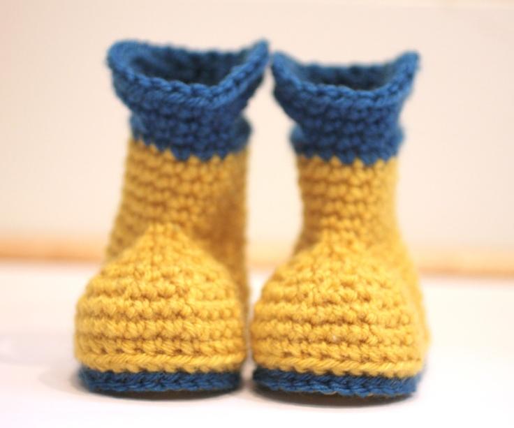 Free Crochet Pattern For Boots : Crochet Rain Boots (free pattern) crochet slippers ...