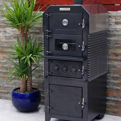 ecoque wood fired pizza oven and smoker frontgate. Black Bedroom Furniture Sets. Home Design Ideas