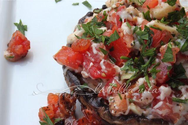 Grilled Stuffed Portobello Mushrooms ~ Grilling & Cooking Light!! - la ...