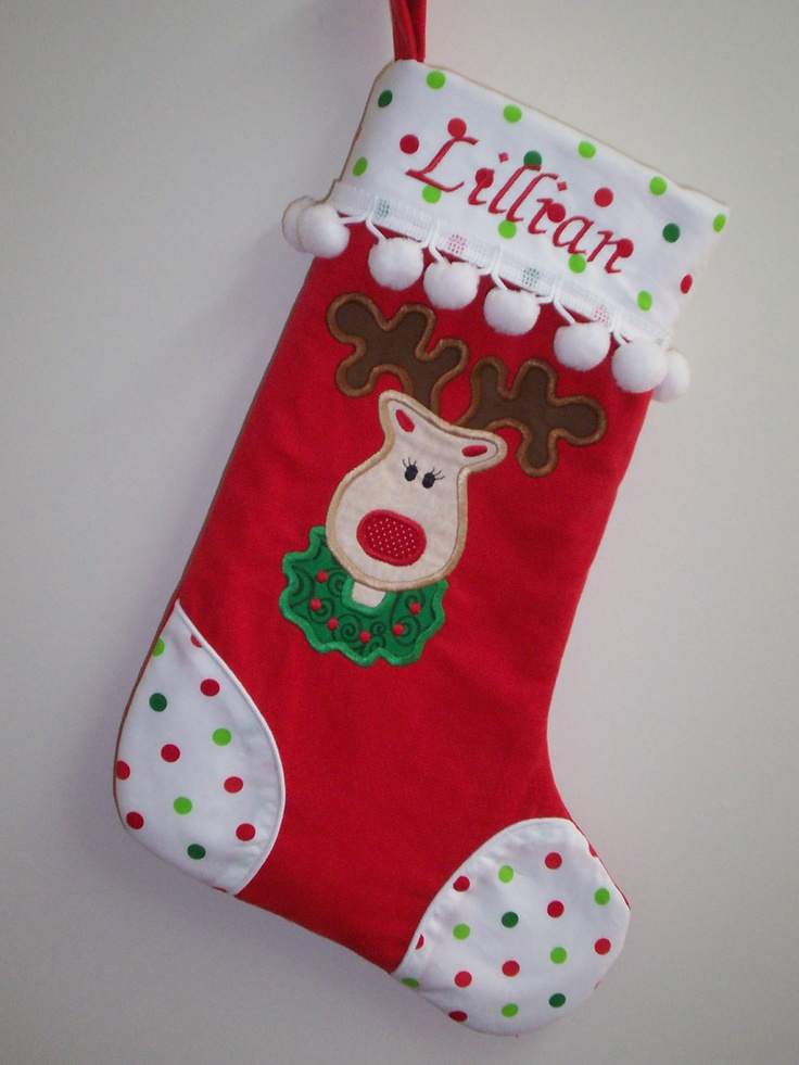 Miss Reindeer | Christmas Stockings | Pinterest