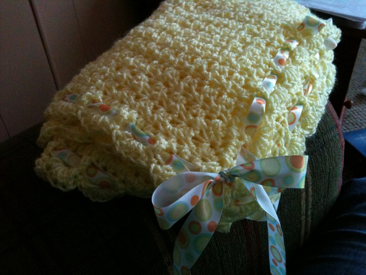 Crochet Jobs : Crocheted baby blanket I should quit my job and crochet all day P ...