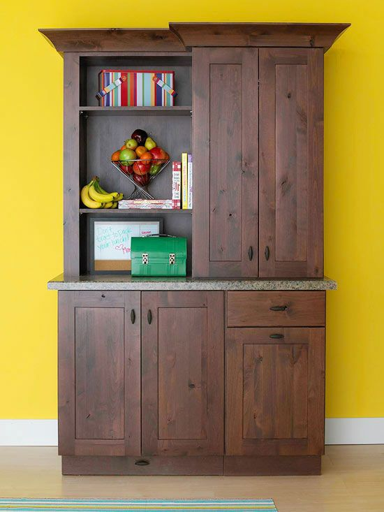Unfinished storage cabinet makeovers - Unfinished kitchen pantry cabinet ...