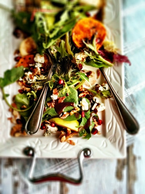 ... : Roasted Butternut Squash Salad with Pears & Blue Cheese