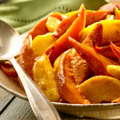 Spice-Roasted Sweet Potatoes & Apples (only serves 6, double up)