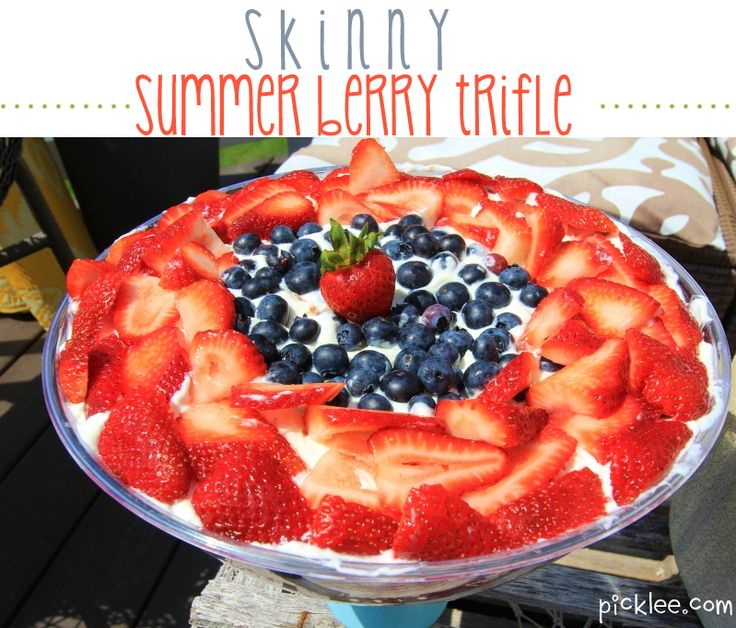 SKINNY Fourth of July Berry Trifle! | Sweet Treats | Pinterest