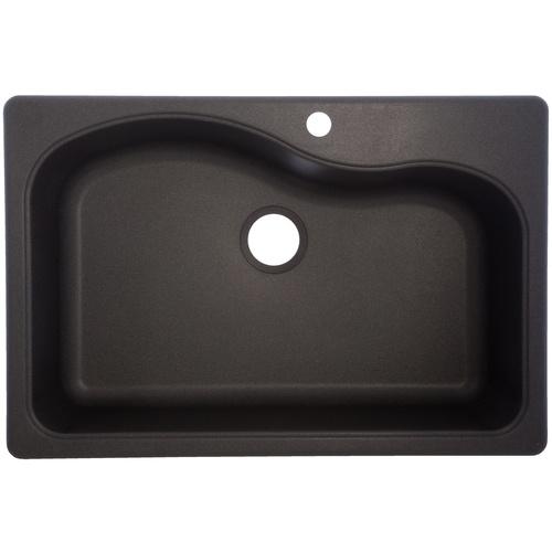 Graphite Kitchen Sinks : Franke USA Graphite 1-Hole Single-Basin Composite Granite Kitchen Sink ...