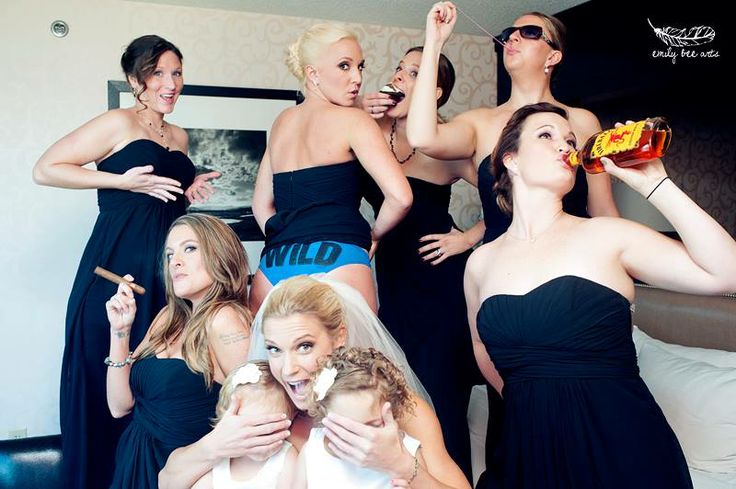 Don't corrupt the flower girl funny Wedding Photo.  #Bridesmaids #flowergirl #bestphotoever