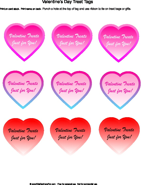 valentines day candy tags