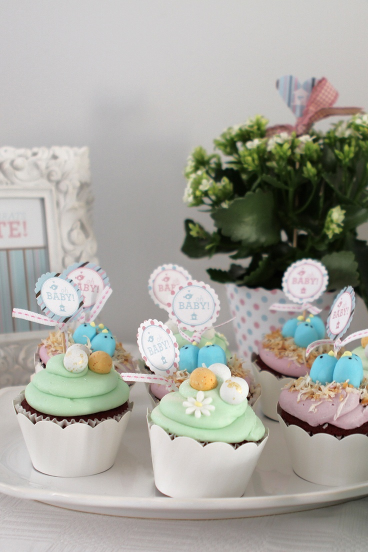 Baby bird red velvet cupcakes (created by Whimsical cupcakes, Cape ...
