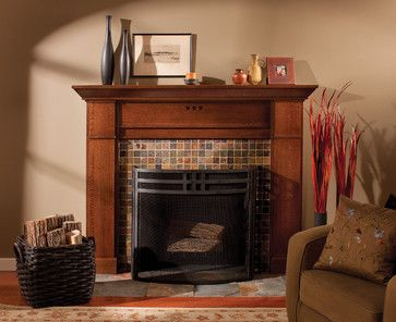 Mantel of a True Craftsman - craftsman - Living Room - Minneapolis - Dura Supreme Cabinetry