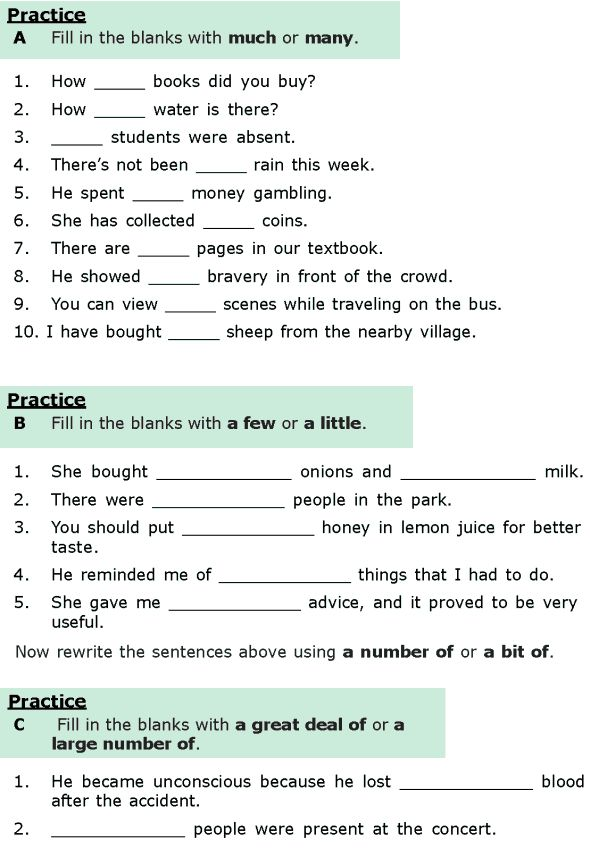 Sixth grade english grammar worksheets