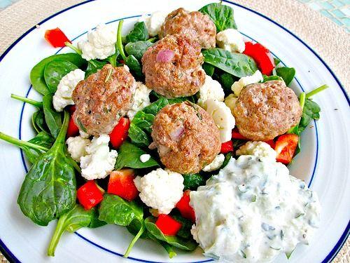Lamb Meatballs With Cilantro Raita Recipes — Dishmaps