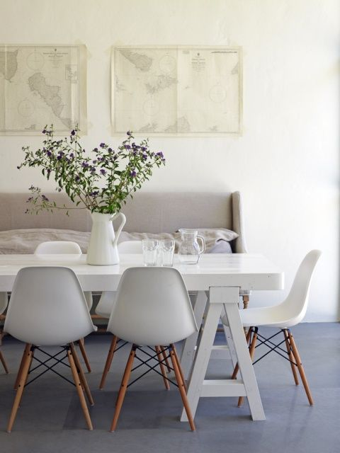 dining room white eames chairs IntErior DeSign Pinterest : 95123f9ccebe6d0e704fc1bcd6beb193 from pinterest.com size 480 x 640 jpeg 36kB