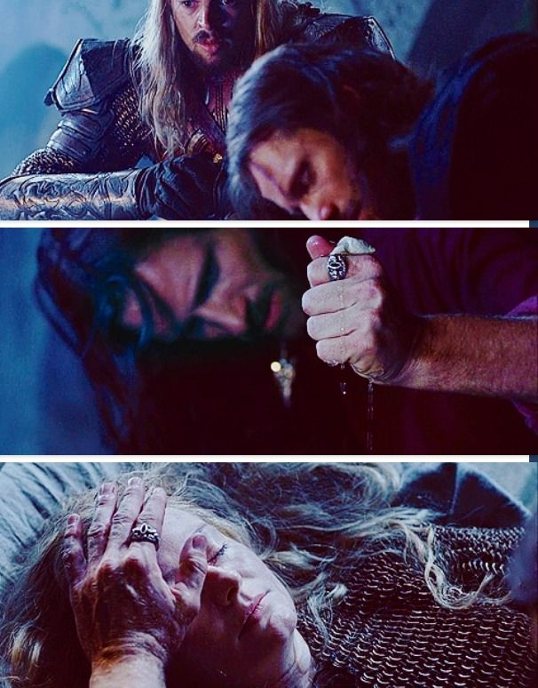 areddhels: Today in Middle-Earth: The wounded come to the Houses of Healing; Aragorn comes to the City (March 15th, 3019 T.A.).  'Let us not stay at the door, for the time is urgent. Let us enter! For it is only in the coming of Aragorn that any hope remains for the sick that lie in the House. Thus spake Ioreth, wise-woman of Gondor: The hands of the king are the hands of a healer, and so shall the rightful king be known.'