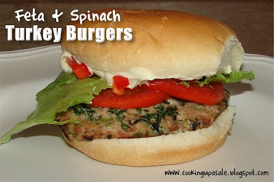 Feta and Spinach Turkey Burgers