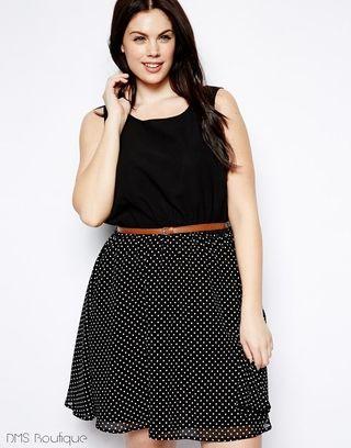 Vestido de Poá Plus Size - Ref.186 — DMS Boutique