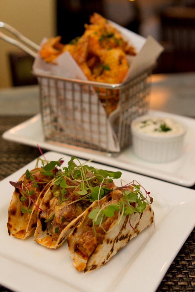 Fried Shrimp & Tuna Tartare Tacos | Drinks & Eats | Pinterest