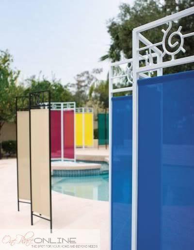 Fabric patio garden privacy screen divider portable for Portable patio privacy screens