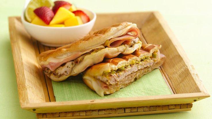 Grilled Cuban Pork Pressed Sandwiches   Recipe