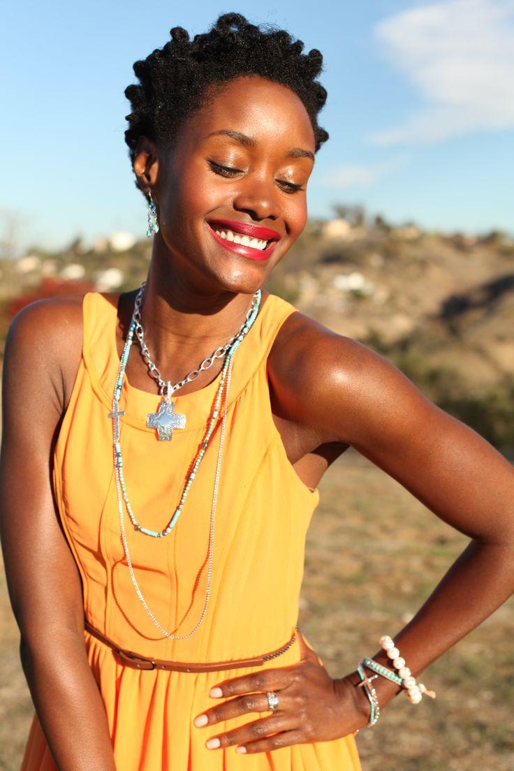 Fashion tip: Pair #turquoise with orange to make it POP! #boho #WomensFashion