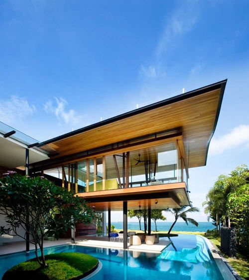 house over pool
