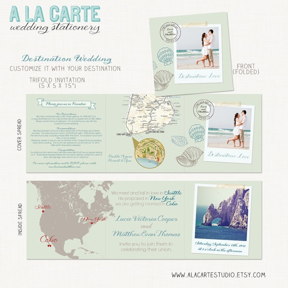 Beach Destination Wedding Invitation Wedding Ideas Pinterest