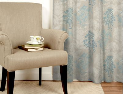 Green Striped Curtain Panels