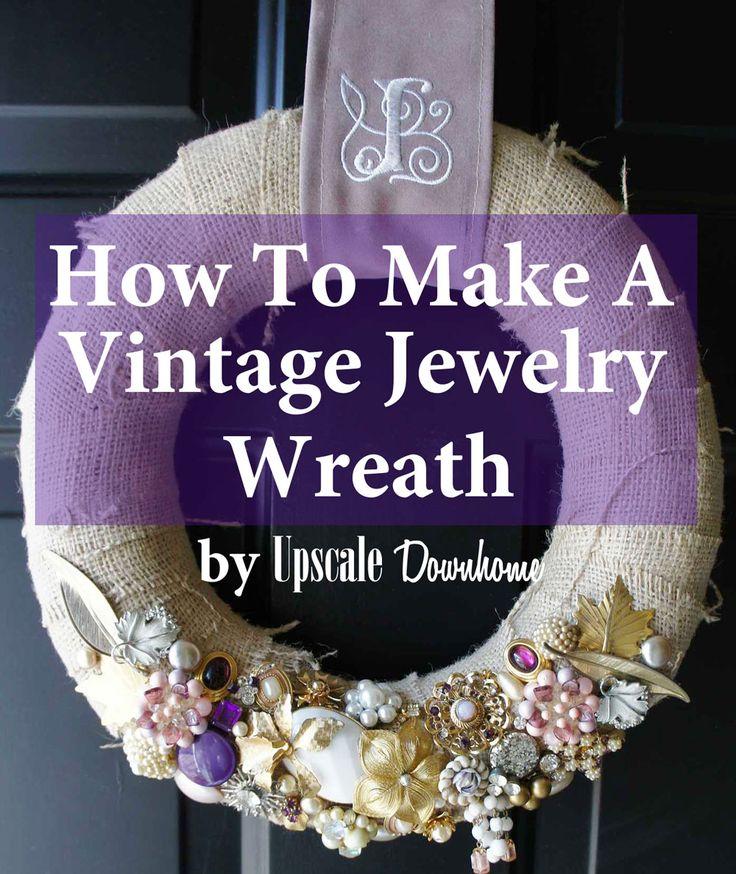 Vintage jewelry wreath jewelry wreath upscale downhome blog pint