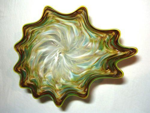 hand blown glass art platter bowl wall hanging 34. Black Bedroom Furniture Sets. Home Design Ideas