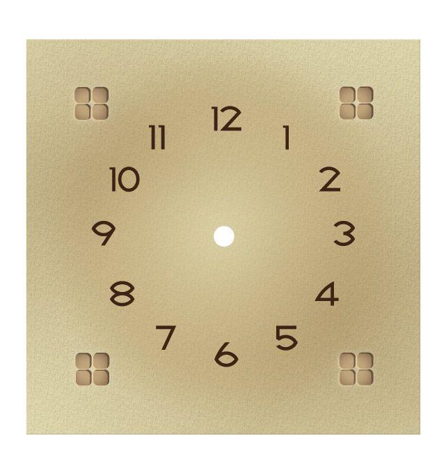Craftsman Style Mantel Clocks | Craftsman Paper Dial : Light Tan
