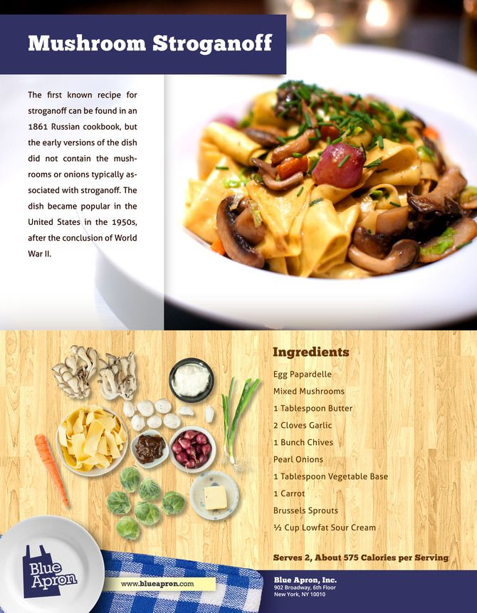 Mushroom Stroganoff with Brussels Sprouts & Fresh Egg Pappardelle   R ...