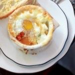 Tomato, Pepper and Herb Baked Eggs With Gruyere Cheese | Recipe