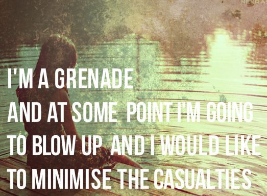 im a grenade - The Fault in Our Stars