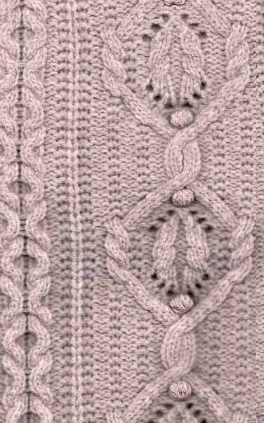 Knitting Stitches On Pinterest : NO07017G - Aran Cable Knit Stitch Knit Stitch Pinterest