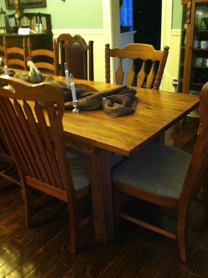 12 39 X 3 39 Farmhouse Style Cypress Dining Table Custom Built
