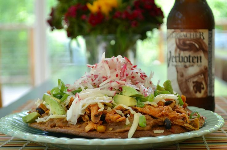 Seven Layer Chicken Tostadas | Three Many Cooks