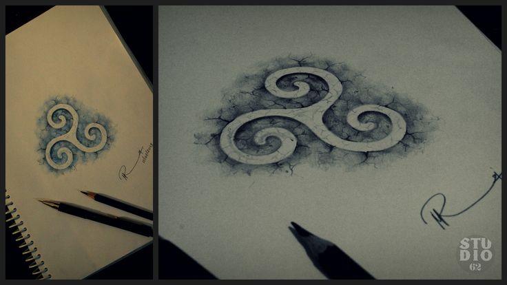 Karma conceptual symbol sketch tattoo design studio62 for Karma symbol tattoo