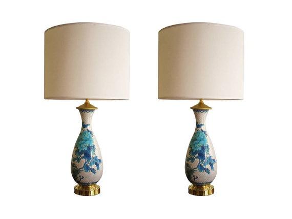 cloisonne lamps. love. #cloisonne