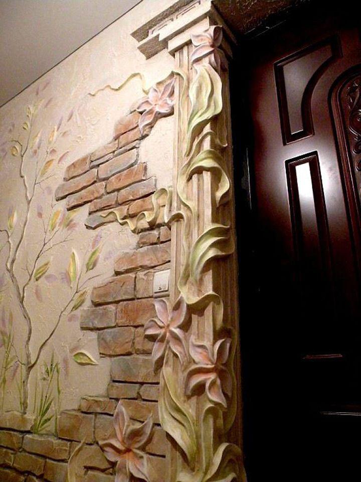 Лепнина на стене в квартире своими руками