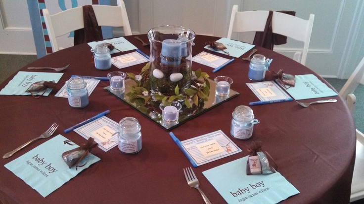 Table Setting For Baby Shower Luncheon Surfer Baby