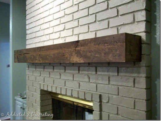 diy rough hewn wood mantel 5 mantle pinterest. Black Bedroom Furniture Sets. Home Design Ideas