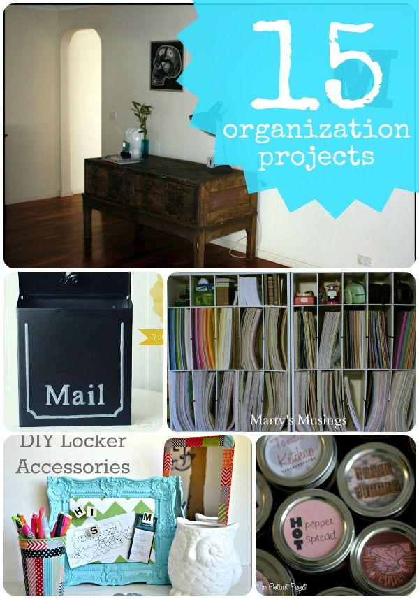 15 DIY Organization Projects-- Tatertots and Jello #DIY #Organizing
