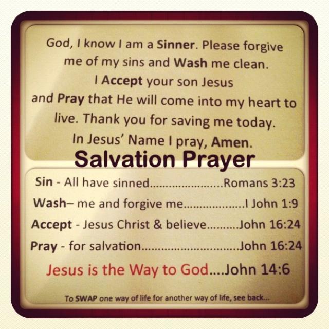 Is salvation a prayer